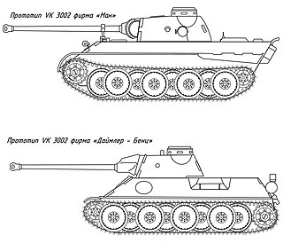 VK 3002(DB) German medium tank prototype