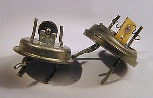 Transistors from Computer cards as used in the...