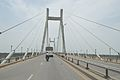 Concrete Cable Stayed Bridge - Across River Yamuna - NH 27 - Allahabad 2014-07-04 5614.JPG