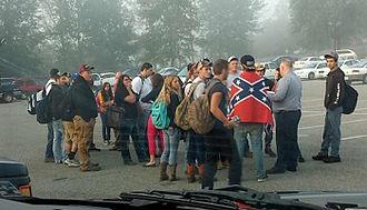 Christiansburg High School - Confederate Flag Protest at Christiansburg High School on September 17, 2015
