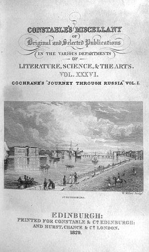Constable's Miscellany - Constable's Miscellany volume XXXVI, engraving by William Miller