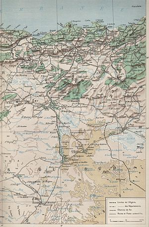 Constantine (departement) - Geographical map of the departement of Constantine in 1930