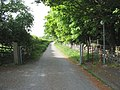 Continuation of the old A5 as a farm road and a public footpath - geograph.org.uk - 814572.jpg