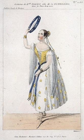 La Esmeralda (opera) - Cornélie Falcon as Esmeralda