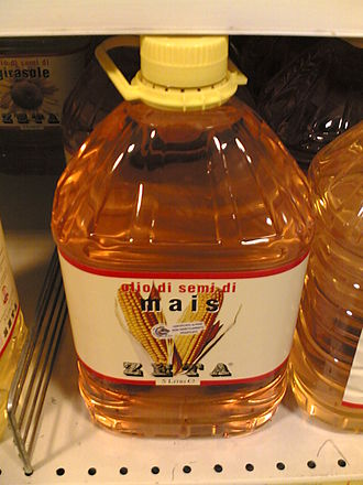 Corn oil - Corn oil, in a 5-liter plastic bottle