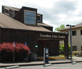 Cornelius Public Library - The library in 2013