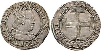 Ferdinand I of Naples - Crown issued by Ferdinand I of Naples