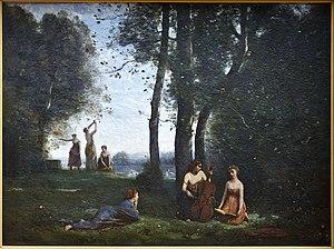 Le concert champêtre - Image: Corot concert champêtre Condé Chantilly