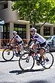 Coryn Rivera (L) and Rozanne Slik (R) of Sunweb before the start of Stage 4 in Sacramento (34976779045).jpg