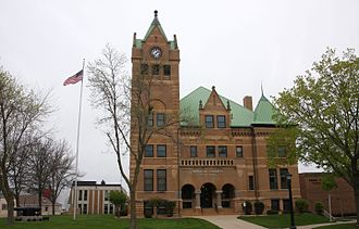Waseca County Courthouse - The courthouse from the east