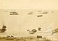 Covadonga, Cochrane, Thetis, Angamos y Amazonas en Pisagua 1879.jpg