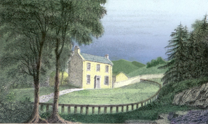 George Moir - Craigenputtock, a property in the family of Jane Carlyle, 1829 watercolour by George Moir