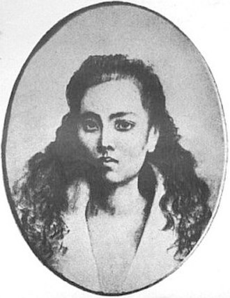 Noli Me Tángere (novel) - A crayon sketch of Leonor Rivera–Kipping by Rizal. Rivera, who was Rizal's longtime love interest, is the commonly accepted basis for the María Clara character.