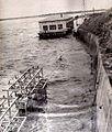 Creciente del 59 en Rincón del Bonete 1959 Vista del Taller Mecanico arrasado por las aguas.jpg