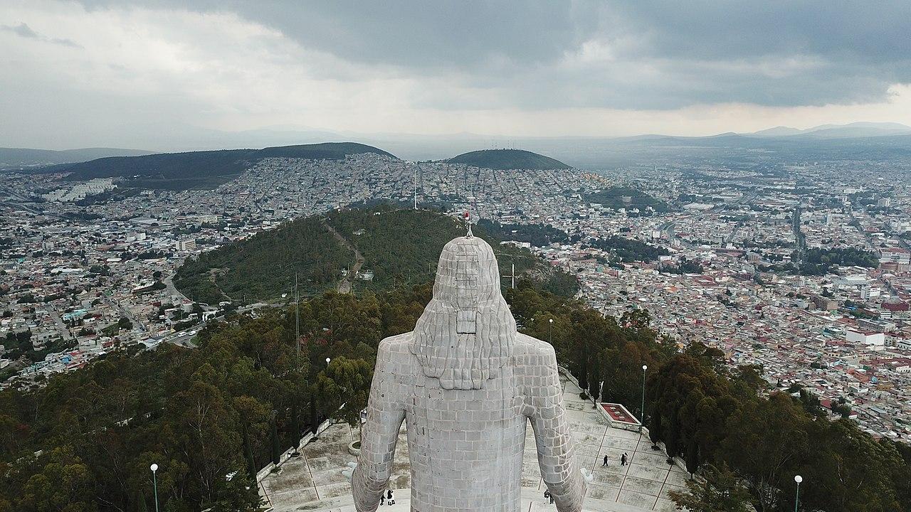 Vista desde el Cristo Rey de Pachuca