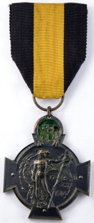 Yser Medal - Yser Cross with the Flemish ribbon