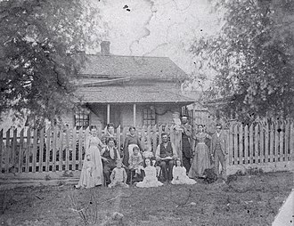 Jane and Finch - The Joseph Crossan House in Elia, on the northwest corner of present-day Jane St. and Finch Ave. in 1878.