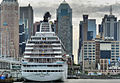 Crystal Symphony cruise ship at 47th St in Manhattan.jpg