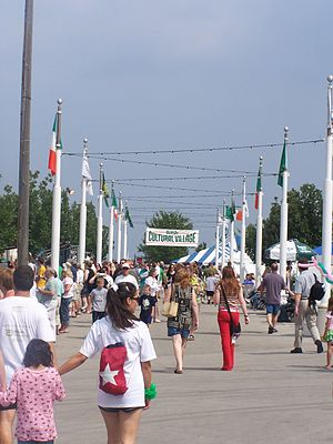 Milwaukee Irish Fest - The Cultural Village during Irish Fest