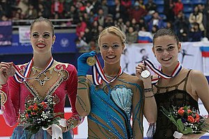 Adelina Sotnikova - Sotnikova at the 2013 Cup of China podium