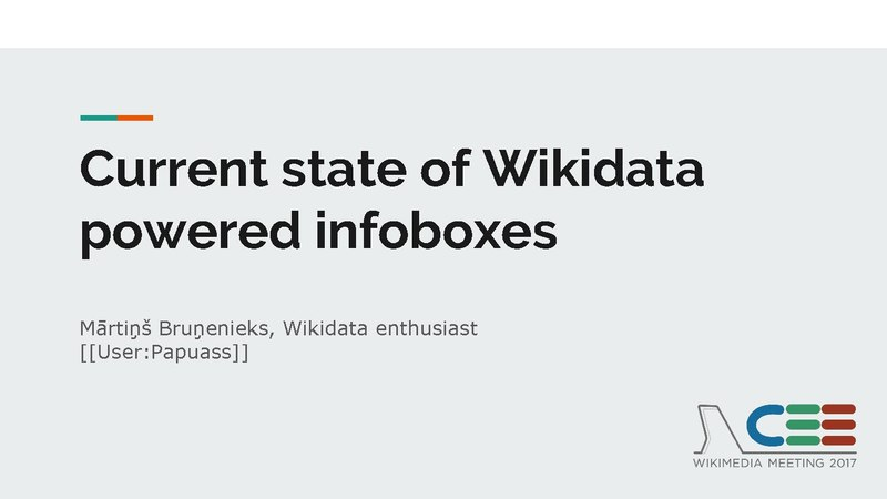 File:Current state of Wikidata powered infoboxes - CEE Meeting 2017.pdf
