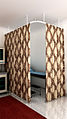 Curtain with den Haag rail HME 15-4 fabric 9132FE fujikawa wallpaper.jpg