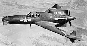 Canard (aeronautics) -  Curtiss-Wright XP-55 Ascender