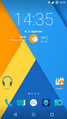 CyanogenMod 12 homescreen german.png