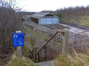Llanelli and Mynydd Mawr Railway - Image: Cycle path near Cynheidre geograph.org.uk 651944