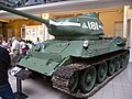 Czechoslovak-produced T-34-85 tank at the Imperial War Museum London 6.jpg