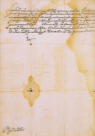 Ricardo Brennand Institute - Letter written by John IV of Portugal. Lisbon, January 20, 1647.