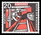 DBP 272 Wohlfahrt Kohlebergbau 20 - 10 Pf 1957.jpg