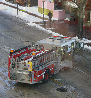 District of Columbia Fire and Emergency Medical Services Department - A DCFD fire engine in December 2005.