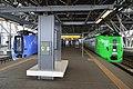 DMU261-100 SE-201 Sarobetsu 789-100 HE-105 Lilac at Asahikawa Station.jpg