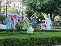 DSC04738 Istanbul - La Moschea Blu - Fedeli che vanno alla preghiera - Foto G. Dall'Orto 29-5-2006.jpg