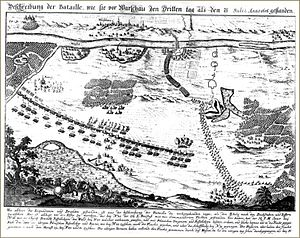 "Battle of Warsaw (1656) - ""Battle of Warsaw on the third day"", a contemporary map"
