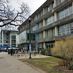 The Student Union Building is a hub of student extracurricular and social life on campus. It houses a number of student organizations and clubs including Dalhousie Student Union. Dal STU Building 2016.JPG