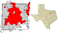 Dallas County Texas Incorporated Areas Dallas highlighted.svg