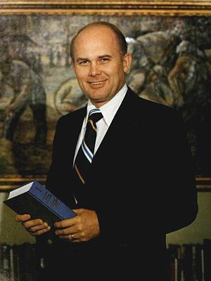 Dallin H. Oaks - Oaks while president of BYU (1977)