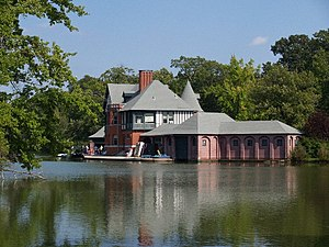 Roger Williams Park - Image: Dalrymple Boat House Prov