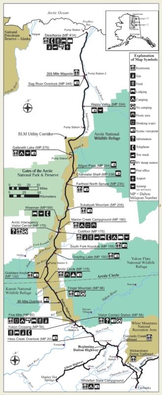 Dalton Highway - Image: Dalton Highway Map