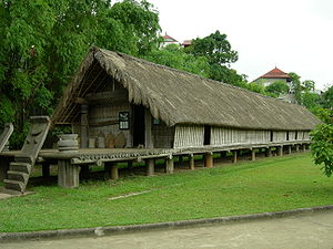 Vietnam Museum of Ethnology - An outdoor exhibit at the museum, consisting of an Ede dwelling from the Central Highland region