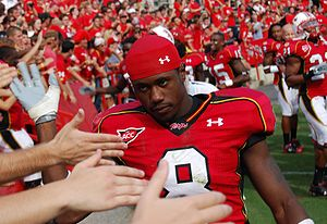Darrius Heyward-Bey - Heyward-Bey greets Maryland fans in 2008.