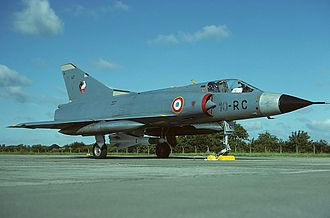 "French Air Force - Mirage IIIC of EC 2/10 ""Seine"" pictured in 1980 armed with a Matra R.530."
