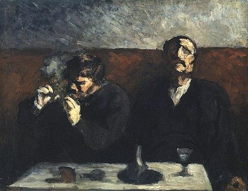 Daumier - Smoker and Absinth Drinker, 1856-60