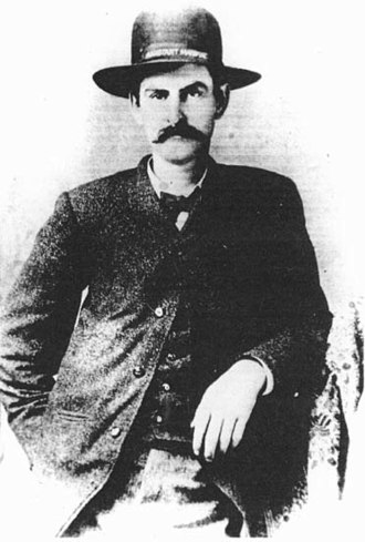 """Mysterious Dave Mather - David Allen """"Mysterious Dave"""" Mather posed for his only known photograph sometime during his term as Assistant Marshal of Dodge City (June 1, 1883 – April 10, 1884)"""