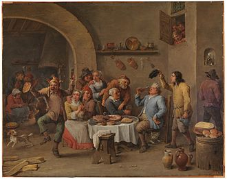 Twelve Days of Christmas - Twelfth Night (The King Drinks) by David Teniers c. 1634-1640