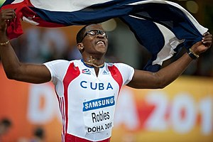 2010 IAAF World Indoor Championships – Men's 60 metres hurdles - Dayron Robles took the gold in championship record time
