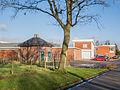 De Avek schuim fabriek in Surhuisterveen met op de voorgrond een P.E.B. hokje.jpg