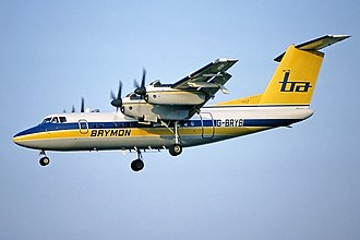 De Havilland Canada Dash 7 - Brymon Airways Dash 7 in 1983